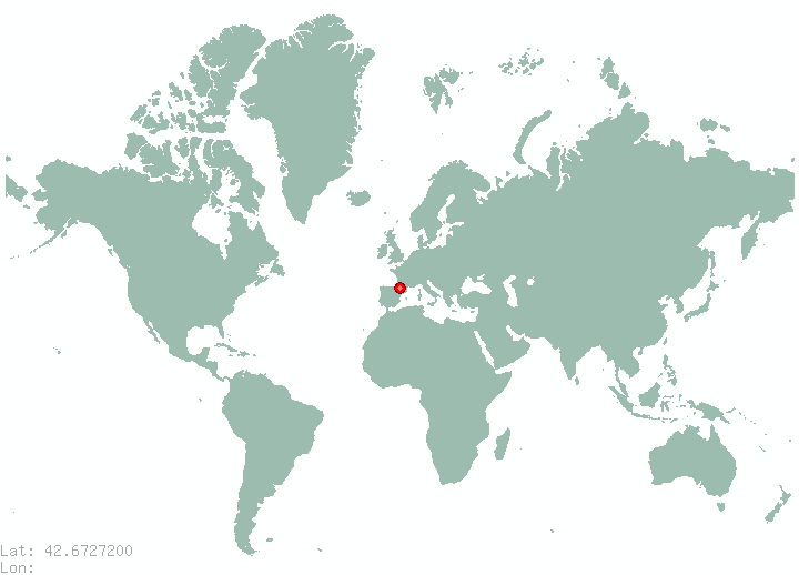 Pristina in world map